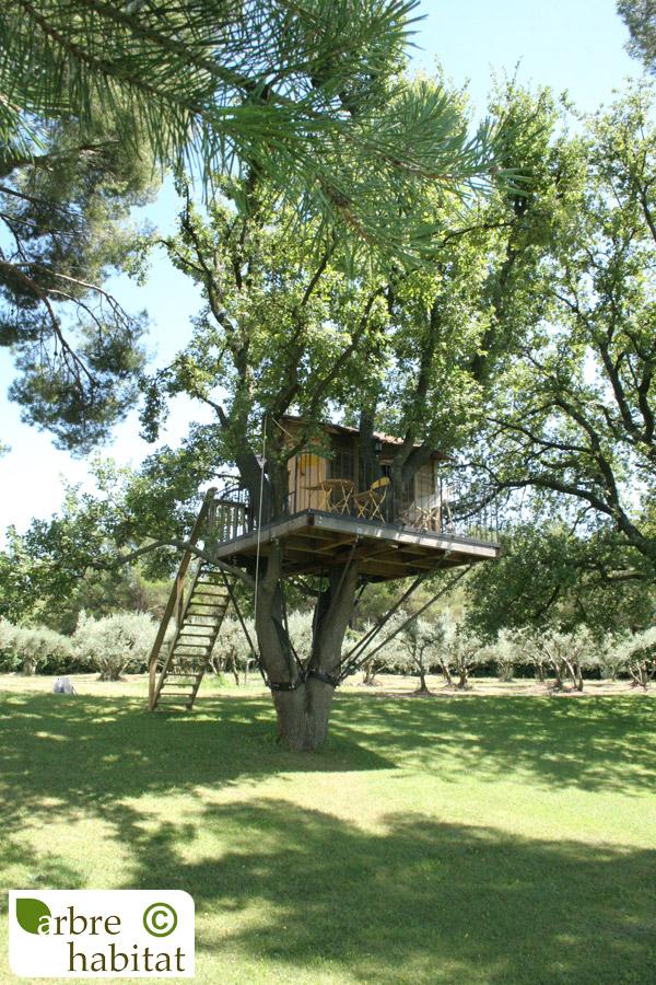 cabane pour enfants arbre habitat. Black Bedroom Furniture Sets. Home Design Ideas
