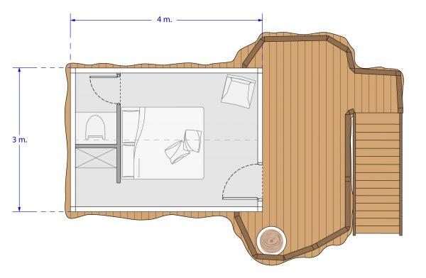 plan chambre d'hôtes 2 personnes